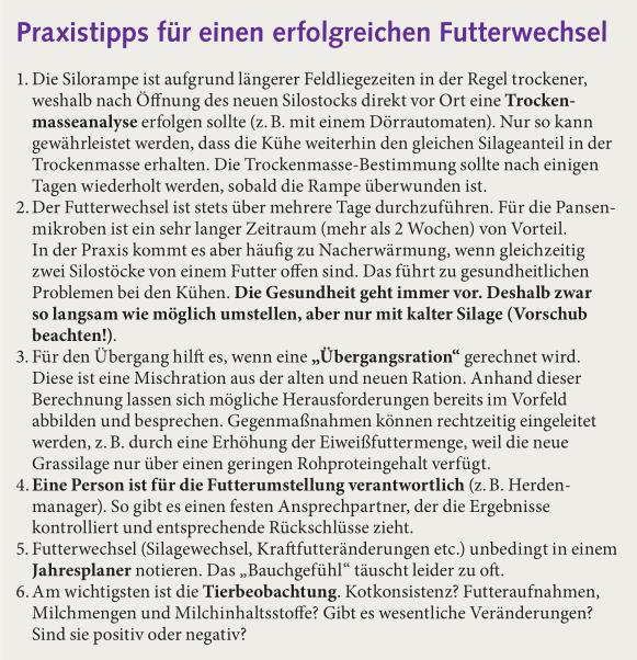 Futterumstellung Praxistipps - www.kuehe-gesund-fuettern.de